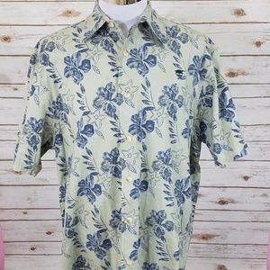Timberland Button Down Shirt Short Sleeve Floral